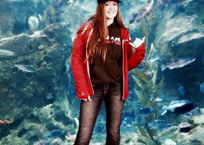 Ali at the Seattle Aquarium