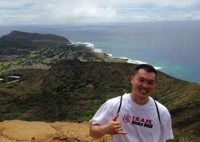 Coach Bryce at the top of Koko Head on Oahu
