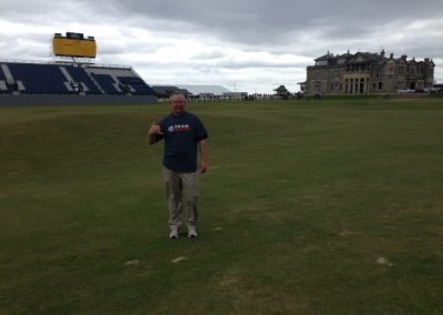 David at the Old Course at St. Andrews in Scotland