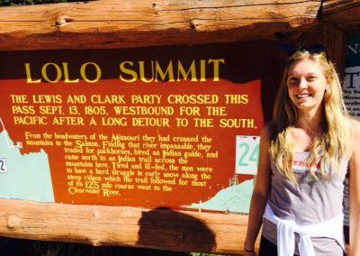 Katherine at Lolo Summit