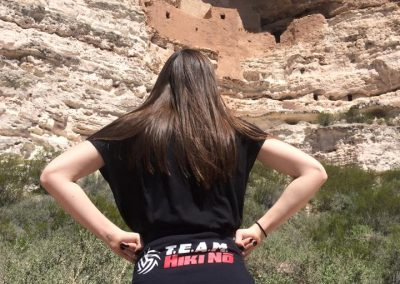 Natalie at Montezuma Castle in Arizona