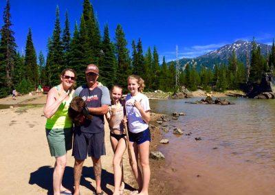 The Blankinships at Sparks Lake