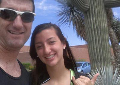 Coach Dan and Rachel in Arizona