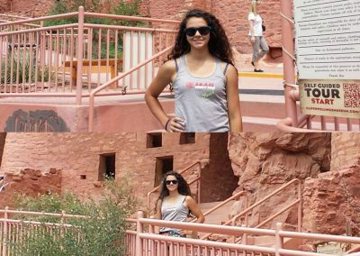 Erika at the cliff dwellings in Colorado