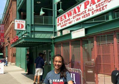 Zoe at Fenway Park