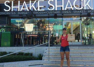Maddy at Shake Shack in Vegas