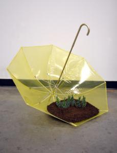 sKolman & Pryor Gallery_Kate Casanova_It's Raining Somewhere_2013_Mixed Media Sculpture with Live Plants