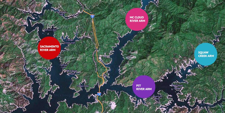 Shasta-Lake-Map