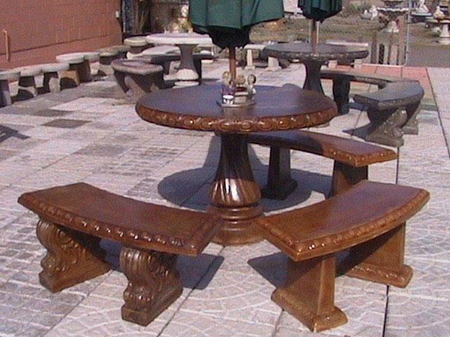 Benches And Tables Portland Garden Decor