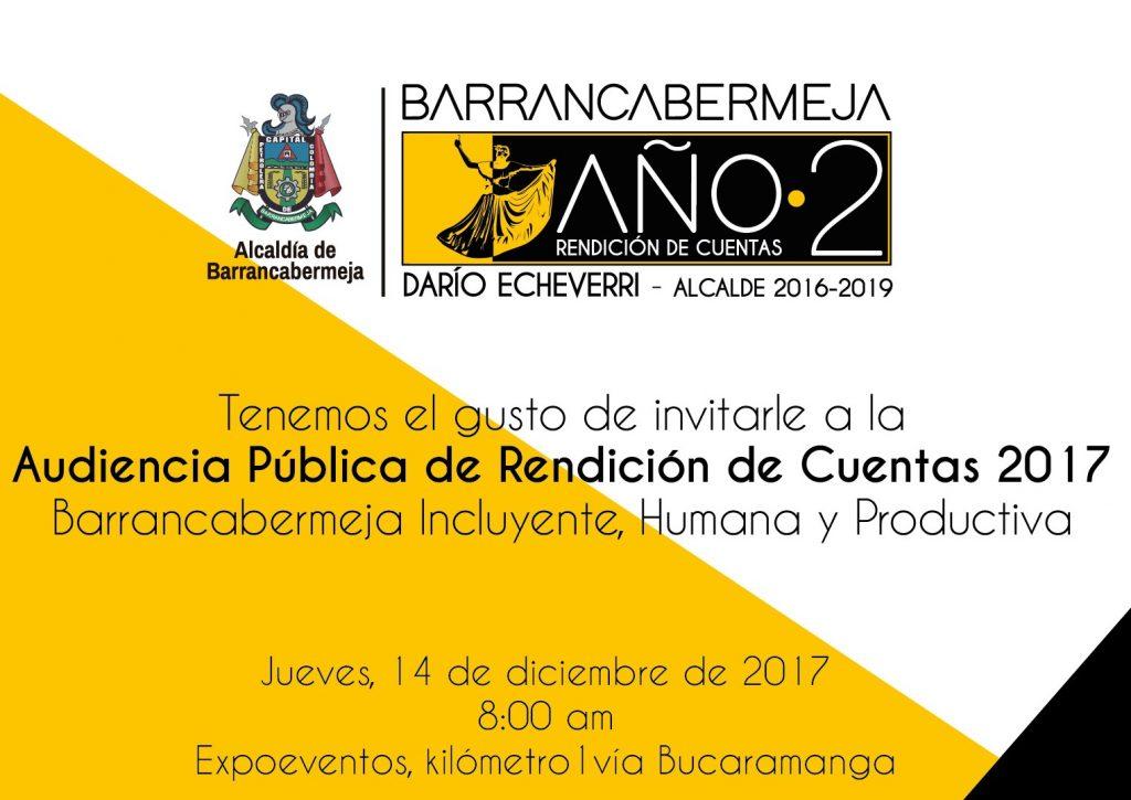 Alcalde de Barrancabermeja rendirá cuentas del segundo año de su gobierno