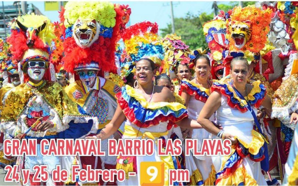Sábado y domingo gran carnaval en el barrio Las Playas