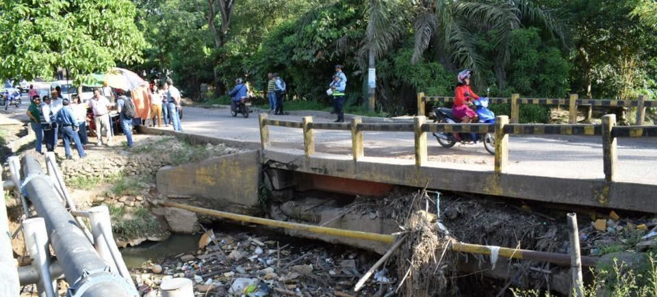 Alcaldía ordena cerrar puente del Pozo Siete por fallas en su estructura