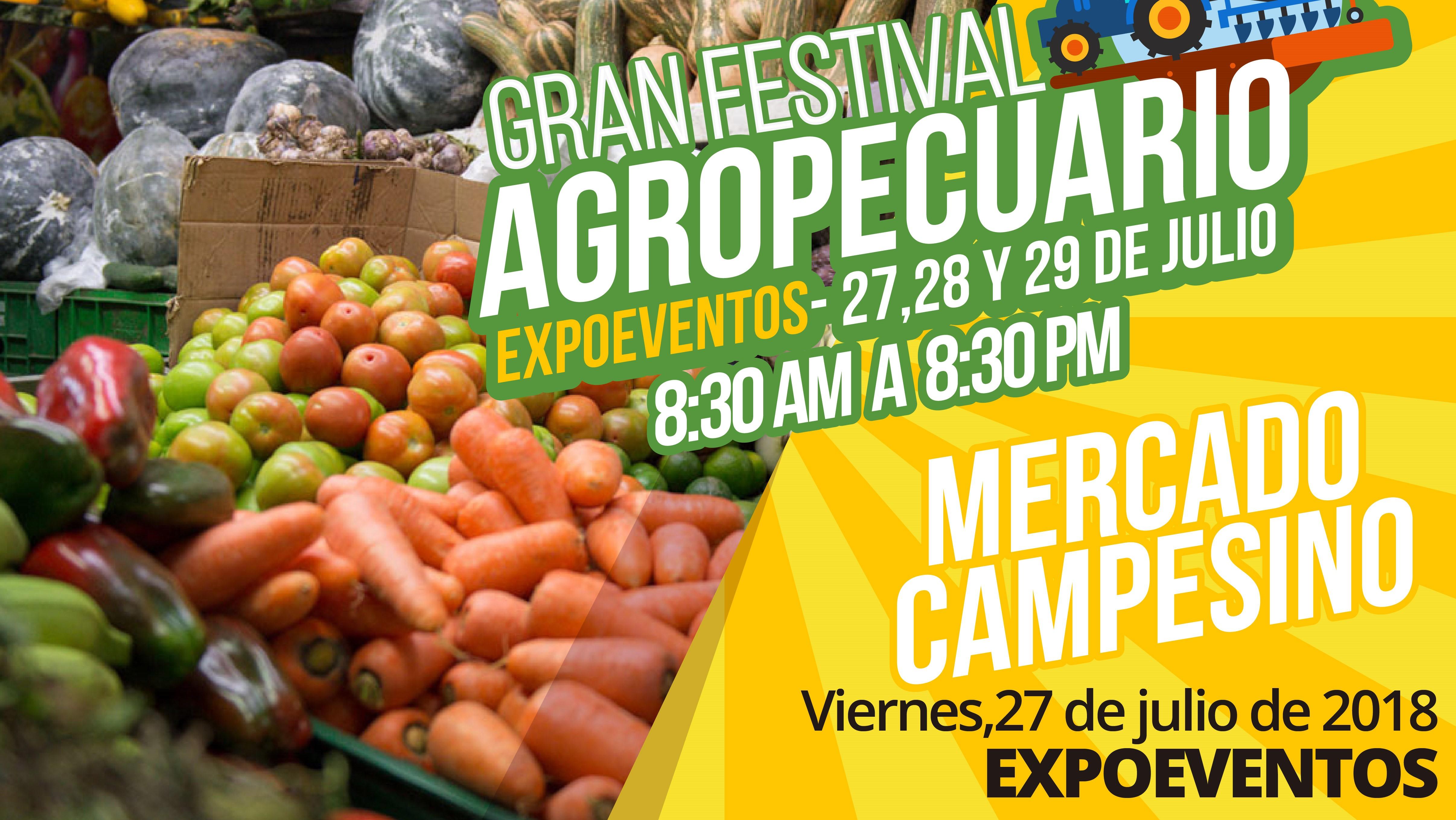 Disfruta del Mercado Campesino en el Festival Agropecuario