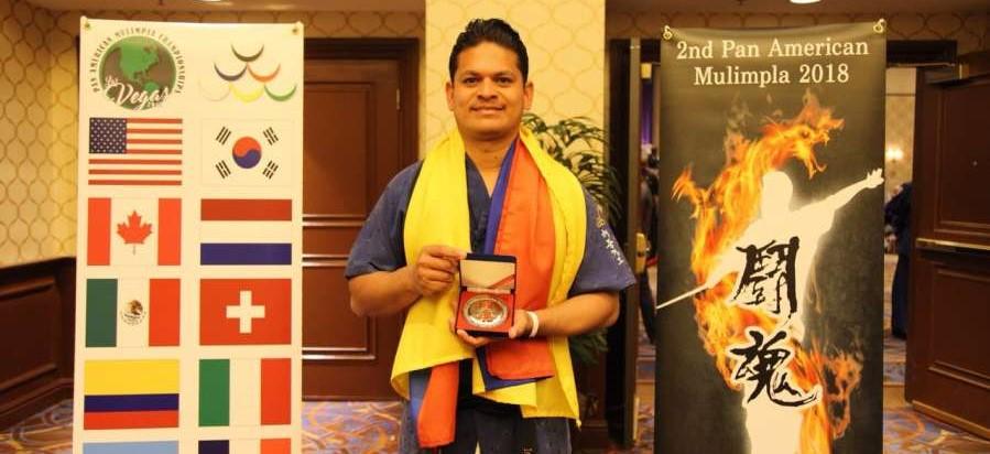 Barranqueño Sergio Arroyo Collante campeón de Taekwondo en las Vegas
