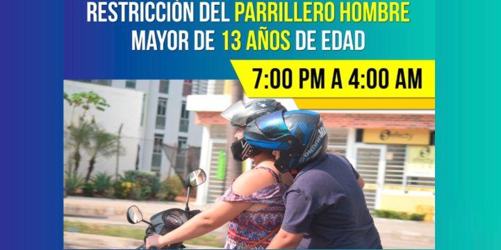 Habrá restricción de parrillero hombre en Barrancabermeja