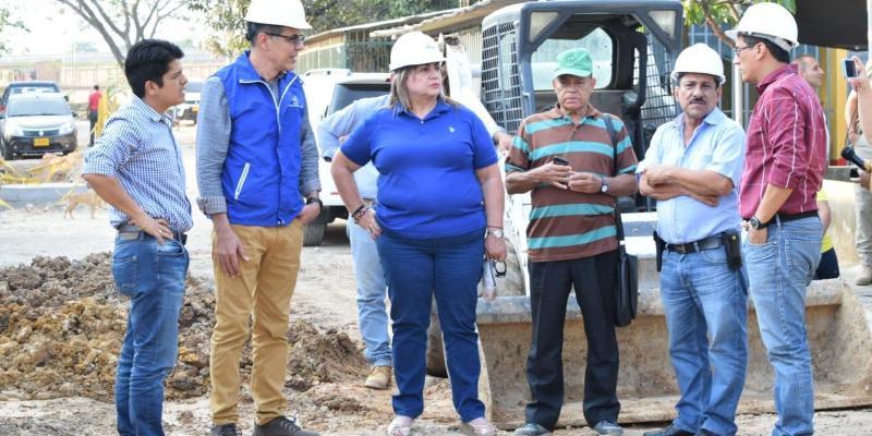 Alcaldía visita obras para el desarrollo en Barrancabermeja