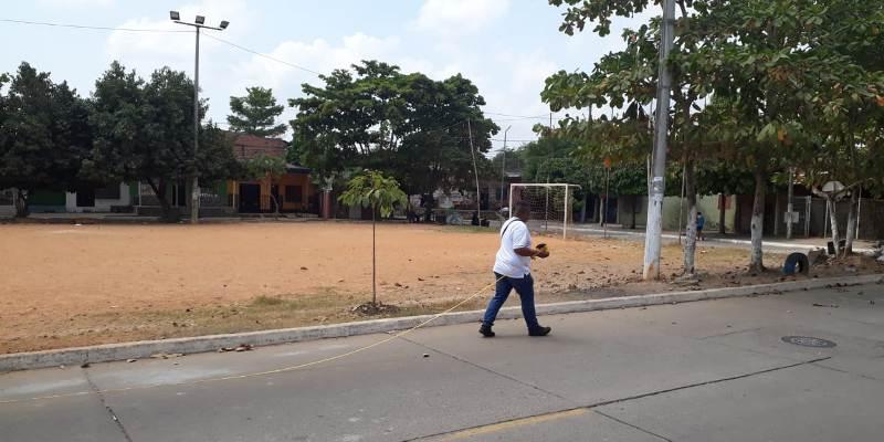 La USO se vincula con obras sociales en barrios de Barrancabermeja