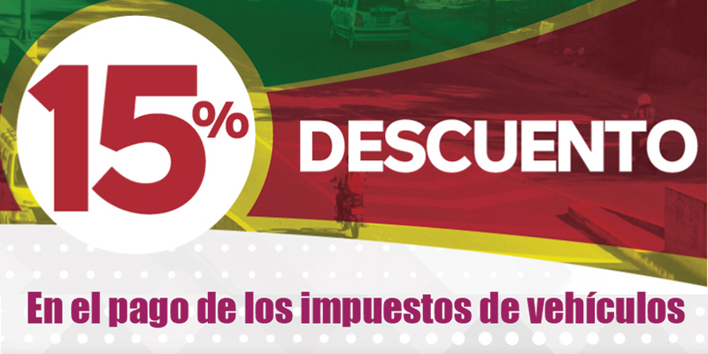 Gobernación de Santander ofrece 15% de descuento por pronto pago del impuesto vehicular.