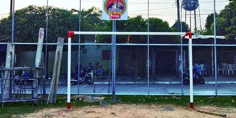 La USO inauguró hoy obra en cancha de fútbol del barrio Las Playas