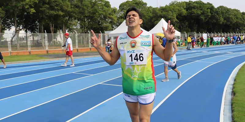 Soel Caballero, el periodista deportivo campeón departamental de atletismo