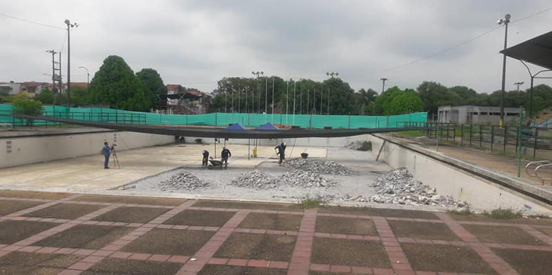 INDERBA está recuperando piscina olímpica de B/bermeja