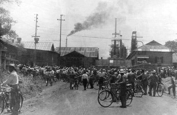 Así era la puerta principal de la Refinería de Barrancabermeja hace 60 años