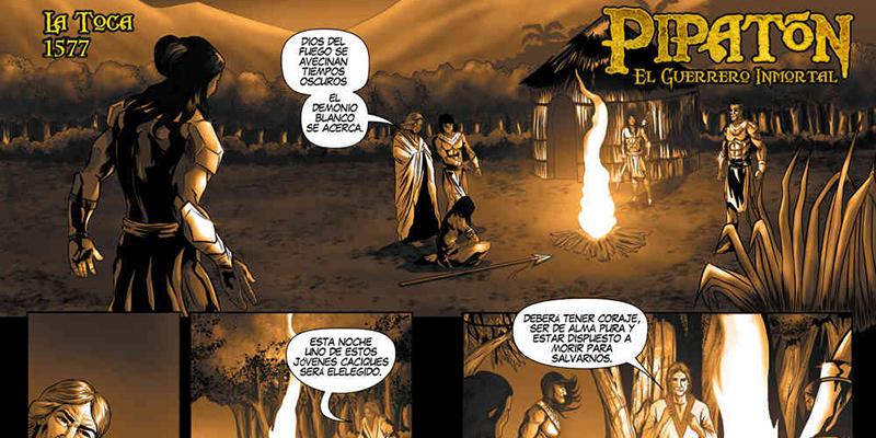 Comic Pipatón, inspirado en uno de los caciques indígenas del pueblo de los yariguíes. Foto: Eder Villa
