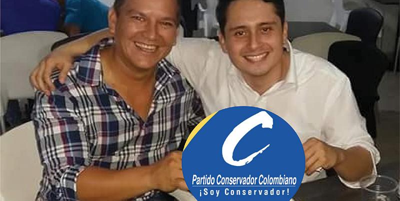 Jonathan y Quiroga felices por aval del partido Conservador