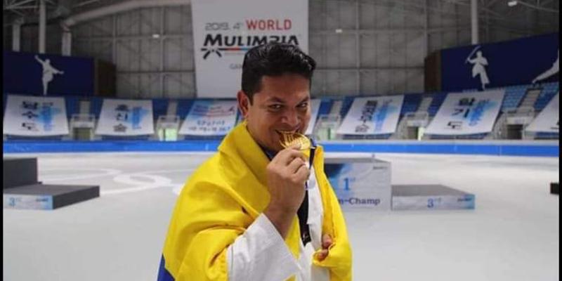 Barranqueño gana medalla de oro en Artes Marciales en Corea del Sur