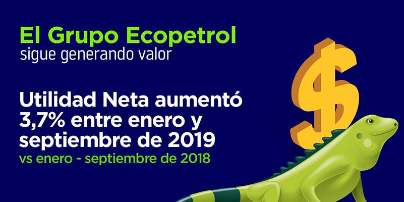 Ecopetrol obtuvo utilidad neta acumulada de 9.2 billones