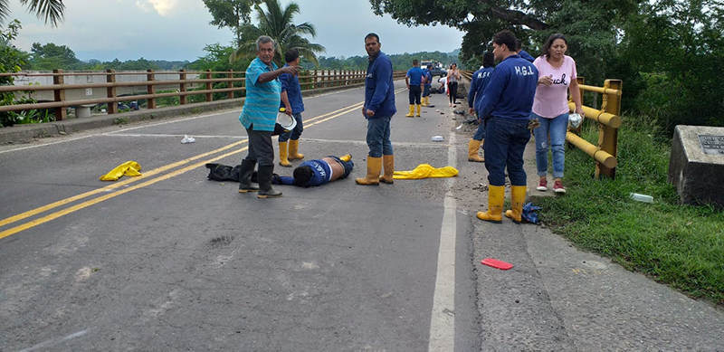 Accidente en vía a Sabana de Torres deja a una persona muerta