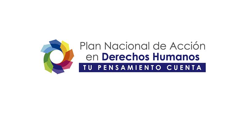 El 26 de noviembre, socialización del Plan Nacional de Acción de Derechos Humanos