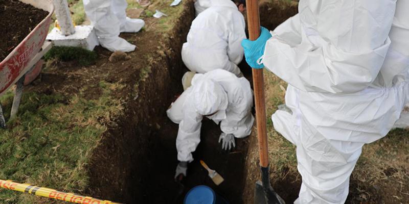 Fosa común masiva de falsos positivos investigada por la JEP en Dabeiba Antioquia