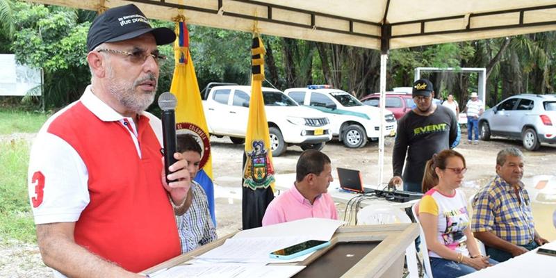 Inauguración vía Comemango y exaltación al liderazgo comunitario en el Centro