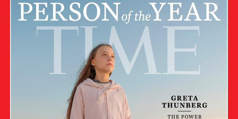 Revista Time elige a Greta Thunberg como persona del año