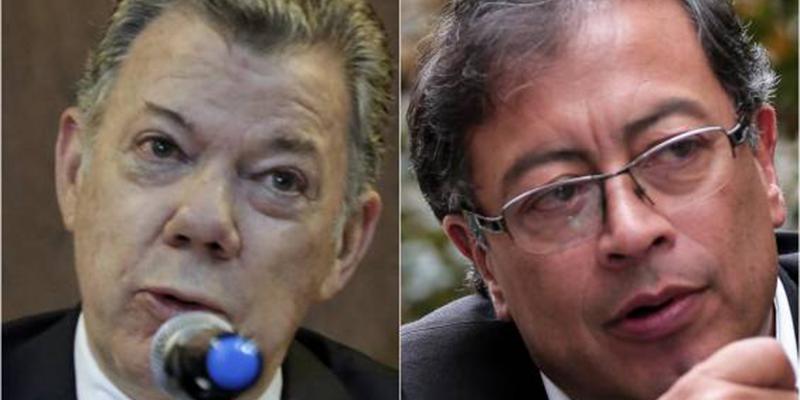 """Juan Manuel Santos y Gustavo Petro aparecen en lista de red de """"chuzadas"""""""