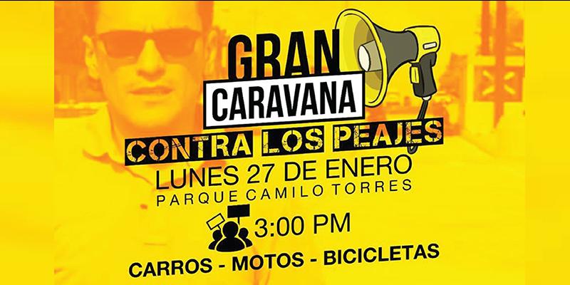 Preparan caravana protesta por peajes hacia Barrancabermeja