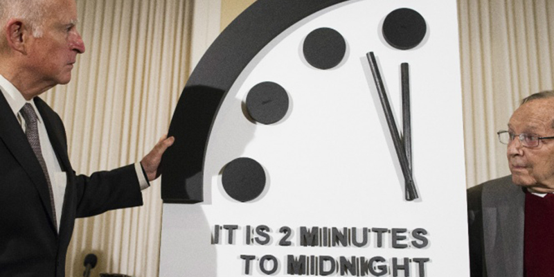 Reloj del Fin del Mundo a 100 segundos del Apocalipsis