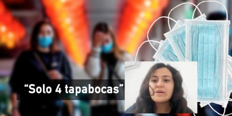 """""""Gobierno colombiano solo nos ha dado 4 tapabocas"""": colombiana en Wuhan, China"""