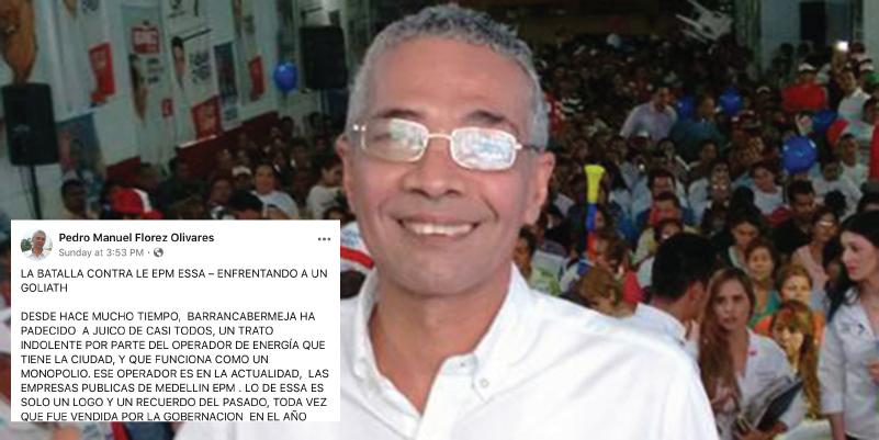 La propuesta de Pedro Flórez contra los abusos de la Electrificadora EPM-ESSA