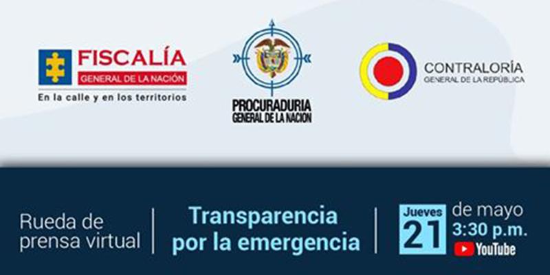 """Transmisión en directo """"Rueda de prensa conjunta entre Fiscalía, Procuraduría y Contraloría"""""""