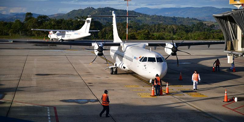 Despega del aeropuerto Palonegro primer vuelo piloto entre Bucaramanga y Cúcuta