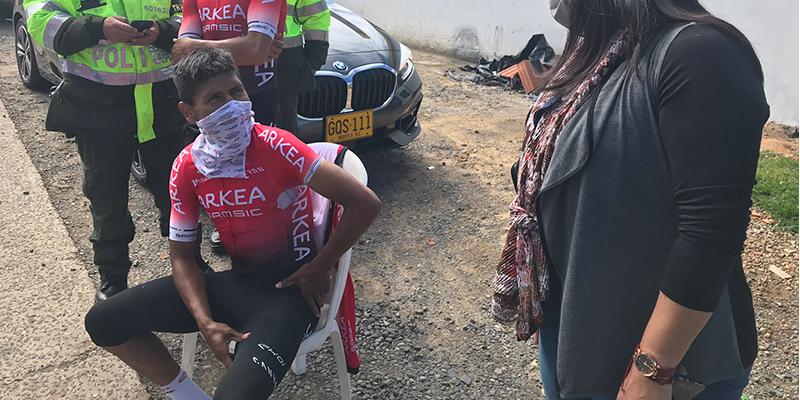 Nairo Quintana, ileso de un accidente mientras se entrenaba en su natal Boyacá