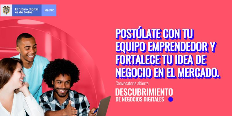 Convocatoria para descubrir nuevos negocios digitales