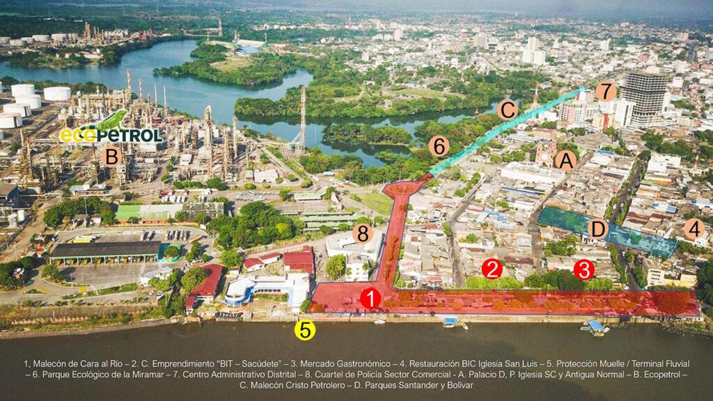 Alcaldía de B/bermeja gestiona recursos para la construcción del Distrito Malecón de Cara al Río
