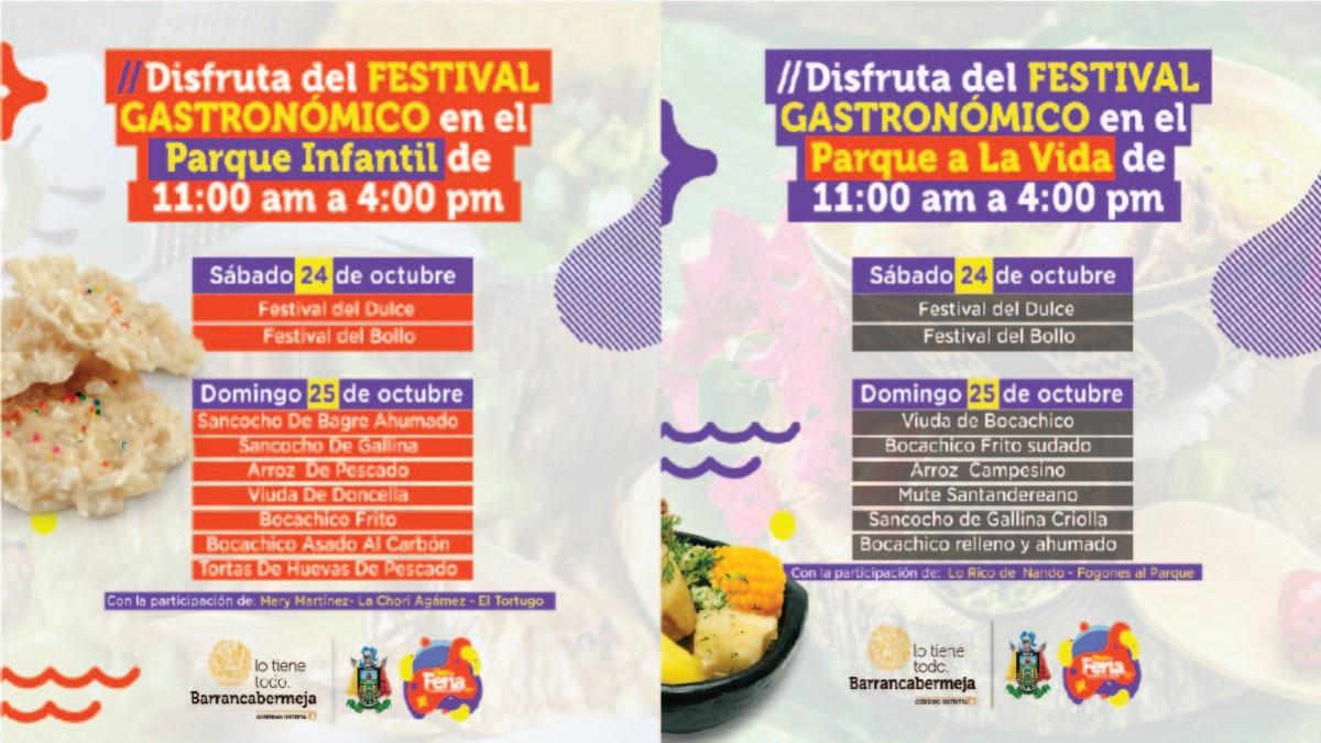 DistriFeria Gastronómica se toma los parques Infantil y A la Vida, este 24 y 25 de octubre