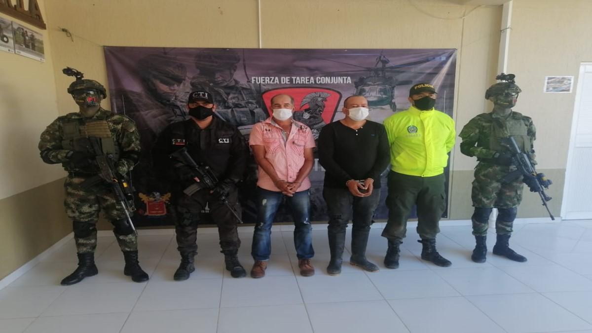 Fiscalía captura a dos presuntos miembros del ELN en el Magdalena Medio