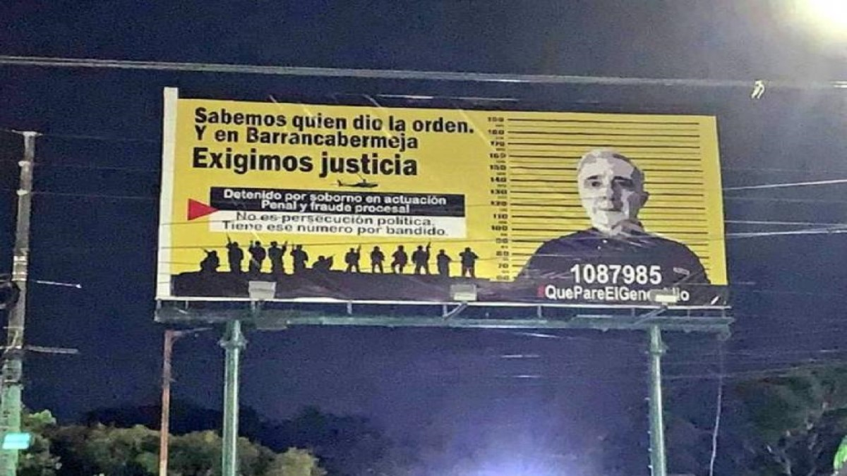 La USO rechaza orden de Planeación Municipal de bajar vaya contra Álvaro Uribe