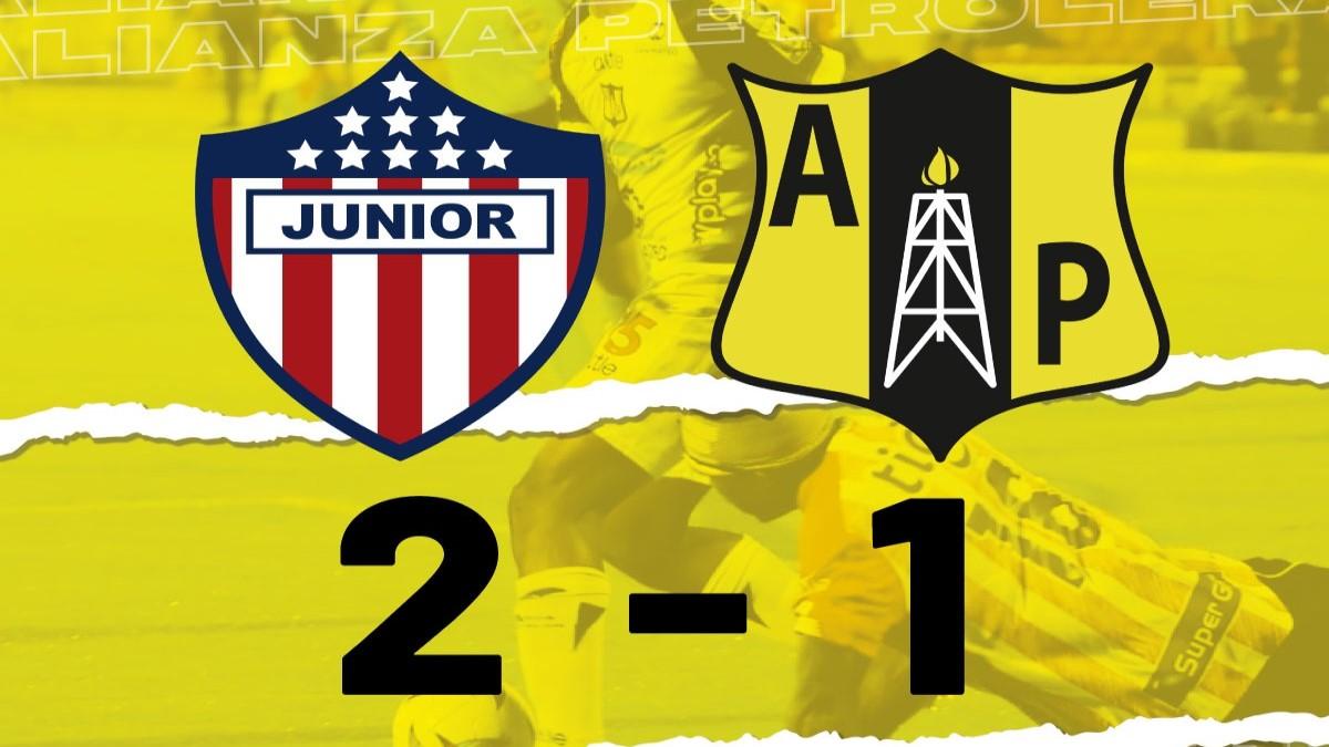 Alianza Petrolera cae derrotado 2-1 a manos del Junior