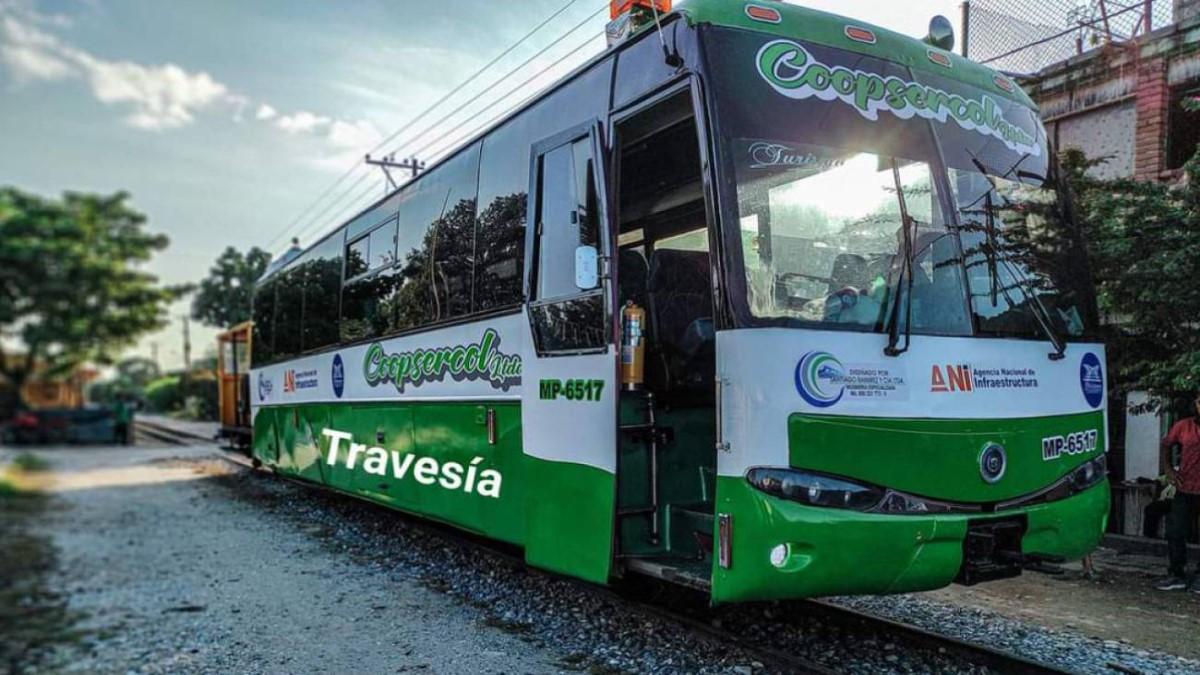 Entra a funcionar ferrobús en Barrancabermeja
